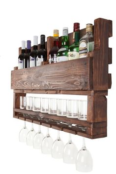 Wine rack wooden wine rack wall wine rack reclaimed wood wall decor home decor wall hangings gift for men Pallet Projects, Home Projects, Woodworking Projects, Diy Pallet, Pallet Ideas, Craft Projects, Diy Wood Projects For Men, Pallet Crafts, Teds Woodworking