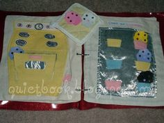 How to Make a Quiet Book: Page 14 & 15: Oven & Cupcakes