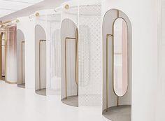 daylab studio completes futuristic heyshop design in shanghai Commercial Interior Design, Shop Interior Design, Commercial Interiors, Shopping Interior, Retail Interior, Cafe Interior, Interior Paint, Plywood Furniture, Design Furniture