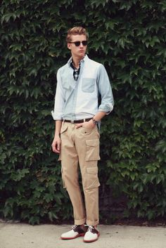 Hmmm..., slim cargo pants are slowly making there way into fashion http://findgoodstoday.com/mensfashion