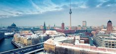 Photo about Berlin Skyline Winter City Panorama with snow and blue sky - famous landmark in Berlin, Germany, Europe. Image of germany, dusk, abstruse - 28322023 Cool Places To Visit, Places To Travel, Travel Destinations, Nouvel An 2018, Low Cost Holidays, Rome, Madrid, Germany And Italy, Short Trip