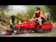 Live steam and diesel miniature locomotives at the International Live Steam Convention in New Zealand, January 2018 at the Nelson Society of Modellers. Live Steam Locomotive, Steam Boiler, Steampunk Crafts, Abandoned Train, Ride On Toys, January 2018, Steam Engine, Up And Running, Model Trains
