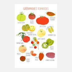 Greenmarket Tomato Print 6x9