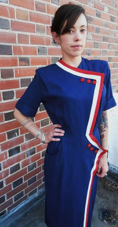 Patriotic Bastille Day Red White and Blue by sustainablewearable, $145.99