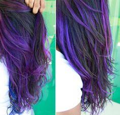 cabelo roxo e azul - Pesquisa Google