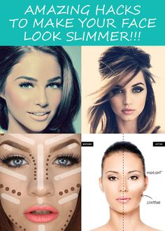 Amazing Tricks for slimmer face look