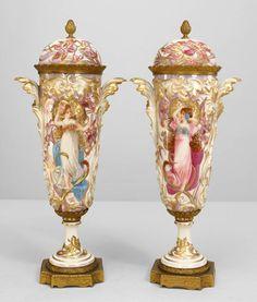 Art Nouveau Art Nouveau accessories urn/vase porcelain