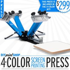 Print Shop Press: DIY 4-Color Screen Printing