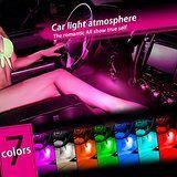 Thunder® 12V 4*3 LED Car Interior Decorative Atmosphere Neon Light Lamp - Best