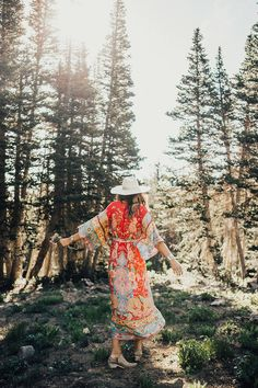 Fashion muse Tessa Barton teams up with Spell Designs for a free spirited edit in mountainside traipsing in gorgeous bohemian dresses.