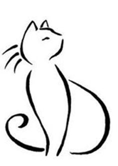 Cat Tattoo Simple Line Drawings Line Drawing Tattoos, Tattoo Drawings, Cat Embroidery, Cat Face Drawing, Easy Cat Drawing, Face Drawings, Simple Line Drawings, Minimal Drawings, Diy Tattoo