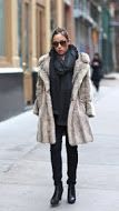 A fur jacket keeps you both warm and fashionable on cold days. www.justblynk.com