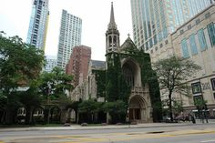 Fourth Presbyterian Church, Chicago, IL ~ Where Bryan dropped to one knee and proposed at the fountain in the courtyard to the left of the church...