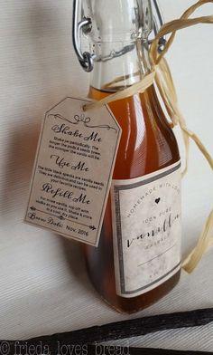 Homemade Vanilla Extract, Pressure Cooker Vanilla Extract, Fast Vanilla Extract, Gift Ideas