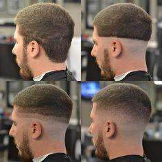 The top short hairstyles for men for the year 2018 are eye-catching and somewhat sophisticated. Today the short mens hairstyles have become particularly. Barber Haircuts, Haircuts For Men, Barber Tips, Hair And Beard Styles, Hair Styles, Hair Cutting Techniques, Barbers Cut, Faded Hair, Fade Haircut