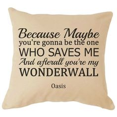 Oasis Noel Gallagher Wonderwall Lyrics by Fourleafclovergifts