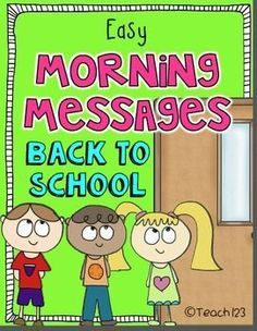 BACK TO SCHOOL - Morning Messages - 2nd/3rd grade level - review skills with these fun morning messages. paid