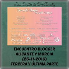 Buenas amores!!! Feliz añooooo!!!!! Hoy os traigo post con la tercera y última parte del Encuentro Blogger Alicante y Murcia. Os espero en el blog con los detalles. Besotes! #EncuentroBloggerAliMur #lascositasdeevabeauty #blog #bloggerespaña #blogger #beautyblogger #beautyblog #makeup #maquillaje #swatches #belleza #beauty
