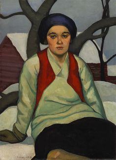 Prudence Heward (July 1896 – March 1947 was a Canadian painter. Born Efa Prudence Heward in Montreal, Quebec, Canada into a . Canadian Painters, Canadian Artists, Beaver Hall, Art Inuit, Female Painters, Portrait Art, Portraits, Female Portrait, Portrait Paintings