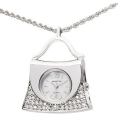 Manhattan Women's CM204201RHMP Silver-Tone Handbag Necklace Watch --- http://www.pinterest.com.mnn.co/5jr