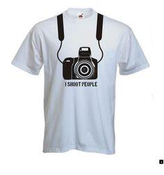a1452c3e34e952 I Shoot People T-shirt - T Shirt Funny Camera Photography Photograph Photo