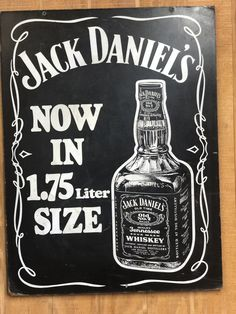 Wood two sided 90 proof half gallon sign. Another vintage promotional for liquor store only item. Jack Daniels Merchandise, Kirin Beer, Jack Daniel's Tennessee Whiskey, Japanese Beer, Jack Daniels Distillery, Beer Pairing, Beer Can Chicken, Wheat Beer, Liquor Store