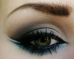 teal and black eyeshadow