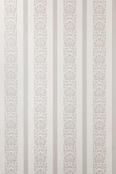 Gray floral and stripe wallpaper
