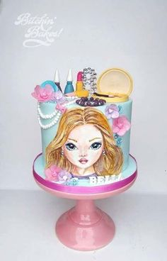 TOPmodel cake by Sharon Fitzgerald @ Bitchin' Bakes