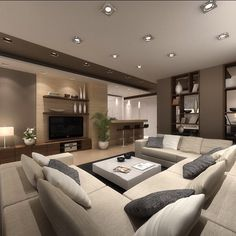 modern living room ideas 34 cozy small living room decor ideas for your apartment 15 Living Room Modern, Living Room Interior, Home Living Room, Living Room Designs, Living Room Decor, Spacious Living Room, Classy Living Room, Small Living Rooms, Small Living Room Ideas With Tv