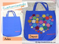 DIY Ecobag: http://customizando.net/ecobag-customizada-com-flores-de-feltro/