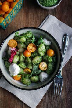Kale Italia Pesto Gnocchi {Katie at the Kitchen Door}
