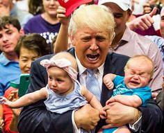 Donald Trump expulsed de su mitin a un bebe porque plorava