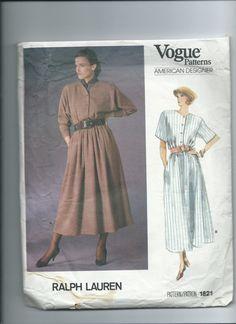 Vintage Vogue paper pattern 1821 for dress designed by Marcialois