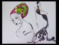 Fashion Sketch .Sara Diaz Marcos Mannequins de mode.