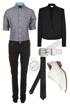 """Bars and Grrrls"" by alaskawhite ❤ liked on Polyvore featuring Helmut Lang, Puma, even&odd, Clarks, Yves Saint Laurent, lesbian, queer, butch, boi and androgynous"