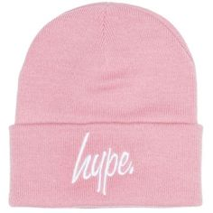Dusty Pink Classic Beanie Hat by Hype (110 DKK) ❤ liked on Polyvore featuring accessories, hats, pink, hype beanie, pink hats, acrylic hat, beanie caps and hype hats