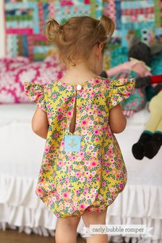 Carly Bubble Romper for Babies and Toddlers:  The bubble romper...easy on, easy off, and…reversible! We love our little baby bubble. Available as a sleeveless romper or with ruffle or puff sleeves.