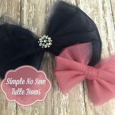 DIY Tulle hair bows - so easy!