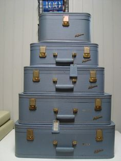 I WANT!!!!!! xxxx Lady Baltimore Vintage Luggage Set by RetroAZ on Etsy, $150.00