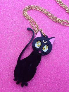 I found 'READY TO SHIP Sailor Moon Luna Cat Necklace' on Wish, check it out!