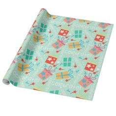 Aqua Gifts and Celebrate Wrapping Paper. #wrappingpaper