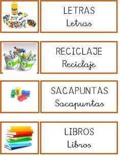 Spanish Classroom Decor, Dora, Classroom Labels, Printable Labels, Childcare, Teaching Resources, Back To School, Kindergarten, Education