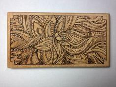 CUSTOM Wooden flower (wood burning). $70.00, via Etsy.