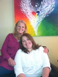 SWC Art Therapy Intern, Wendy and her Art Therapy supervisor, Valerie, share the love at Life Healing Center, a residential care and treatment center for clients dealing with trauma and sex addiction. http://lifehealingcenter.crchealth.com/