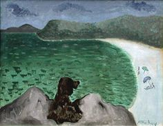 """One of my favorite artists, so good with simplicity   Milton Avery """"Dog by the Sea"""", 1941"""