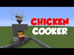 Minecraft 1.12: Redstone Tutorial - Chicken Cooker 2000! (NEW VERSION IN DESC) - YouTube