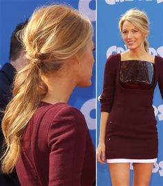 Easy Summer Hair Ideas: A roughed up ponytail, as seen on Blake Lively