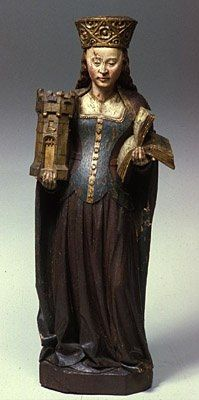 Unknown Burgundian Master, active late fifteenth century Saint Barbara About 1470-90 The Hood Museum of Art