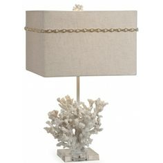 222 best coastal whites images on pinterest coastal style table add a coastal chic touch to your living room or master suite with this eye catching table lamp showcasing a coral inspired base and square shade aloadofball Choice Image
